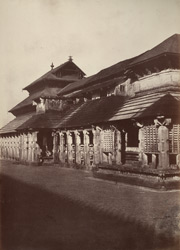Hurphunhullee. A temple. [Corrected caption: The Chandranatha Basti, Mudabidri.] 965174